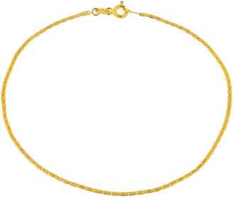 JCPenney FINE JEWELRY Made in Italy 10K Gold Valentino Chain Ankle Bracelet