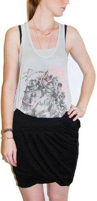 Tankus Kaylee Black Cotton Tulip Skirt