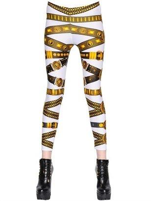 Versus Gold Belt Printed Lycra Leggings