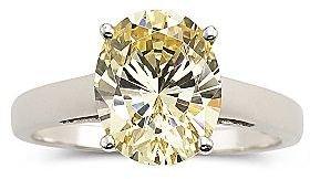 JCPenney DiamonArt® Yellow Oval Cubic Zirconia Ring