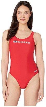 Speedo Guard Super Pro (US Red) Women's Swimsuits One Piece