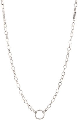Lagos 18K Gold & Sterling Silver Circle & Bar Station Link Necklace