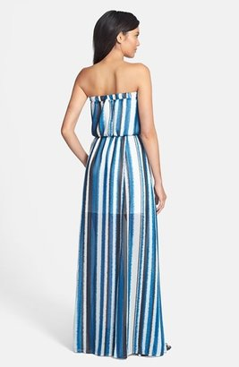 BB Dakota 'Danae' Striped Chiffon Maxi Dress
