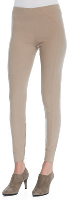 Marc Jacobs Ankle-Zip Yoked Leggings, Camel