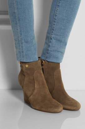 Tory Burch Milan suede wedge ankle boots
