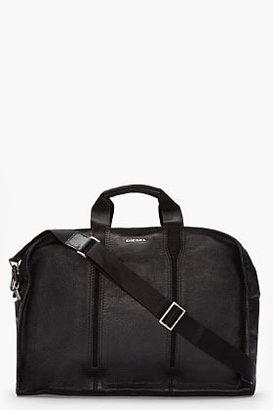 Diesel Black buffalo leather Bulk bag