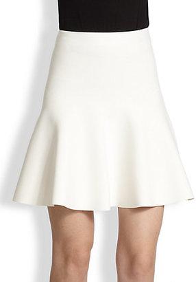 BCBGMAXAZRIA Flared Stretch Knit Skirt