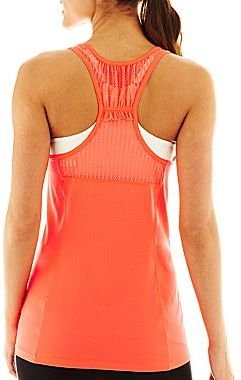 JCPenney XersionTM Shirred Back Tank Top