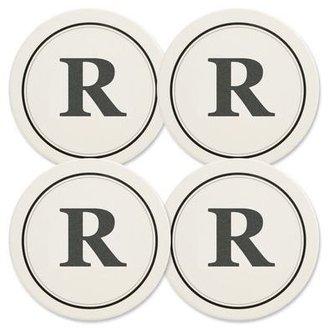 Mikasa Monogram R Coasters, Set of 4