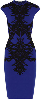 Alexander McQueen Jacquard stretch-knit dress