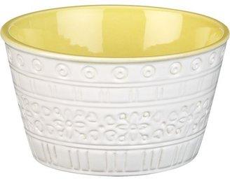 "Crate & Barrel Tiago Yellow 5.12"" Small Bowl"