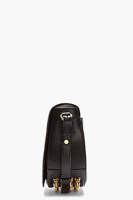 Alexander Wang Black Leather Studded Lia Small Saddle Bag