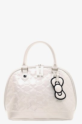 Hello Kitty Loungefly White Patent Embossed Bag