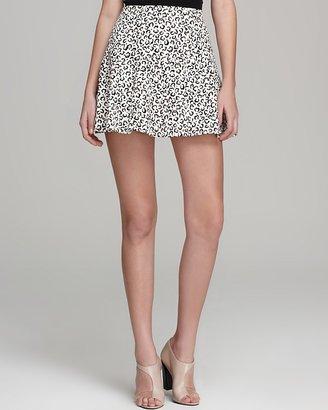 Tibi Skirt - Yoked Leopard Print