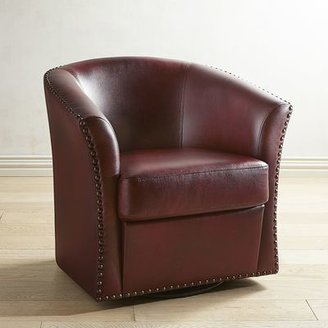 Wells Cranberry Red Swivel Chair
