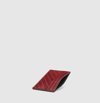 Gucci Microguccissima Leather Card Case