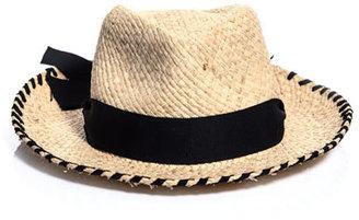 Lanvin Straw hat with grosgrain ribbon
