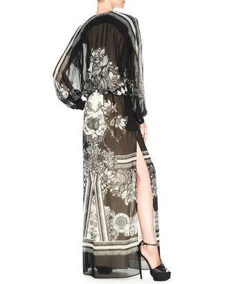 Roberto Cavalli Printed Maxi Caftan Dress
