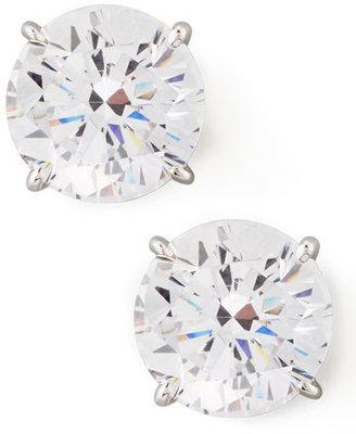 Fantasia by DeSerio Round Cubic Zirconia Stud Earrings, 9mm $280 thestylecure.com