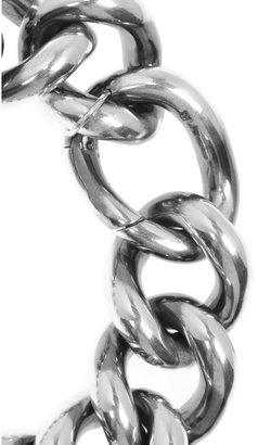 Bottega Veneta Sterling silver and leather bracelet
