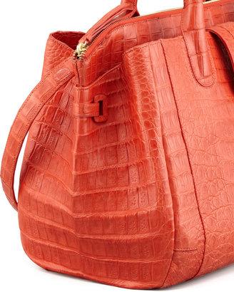 Nancy Gonzalez Cristina Crocodile Shoulder Tote Bag, Orange