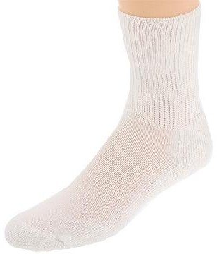 Thorlos Golf Crew Single (White) Crew Cut Socks Shoes