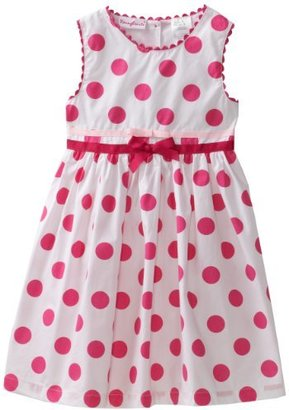 Nannette Toddler Girls Polka Dot Print Dress
