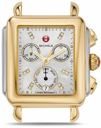 MICHELE Deco Day Two-Tone Diamond Dial Watch Head, 33 x 35mm $895 thestylecure.com