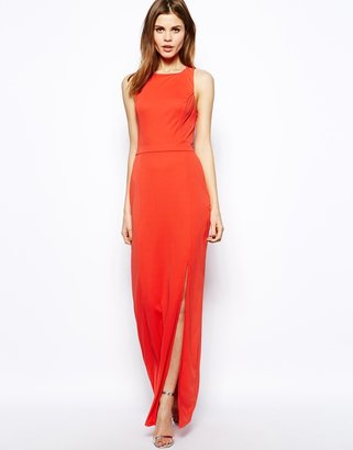 Warehouse Twist Back Maxi Dress