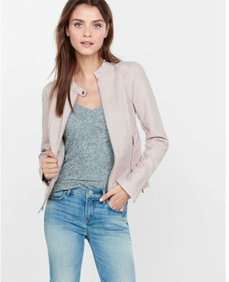 Express (Minus the) leather double peplum jacket $128 thestylecure.com