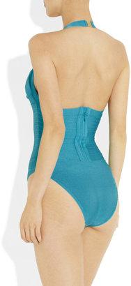 Herve Leger Halterneck bandage swimsuit