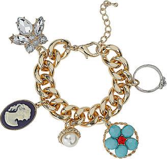 Topshop Charm curb chain bracelet