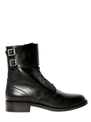 Saint Laurent 30mm Sl Patti Combat Boots