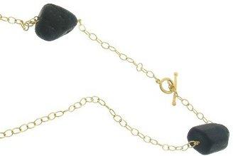 Cathy Waterman Black Tourmaline Wrap Chain - 32'' - 22 Karat Gold