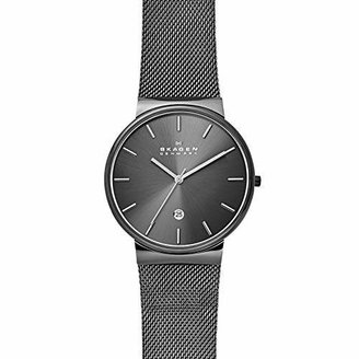 Skagen Men's Ancher Quartz Stainless Steel and Mesh Watch Color: