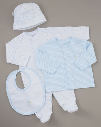 Kissy Kissy Take Me Home Moon & Stars Four-Piece Set, Blue