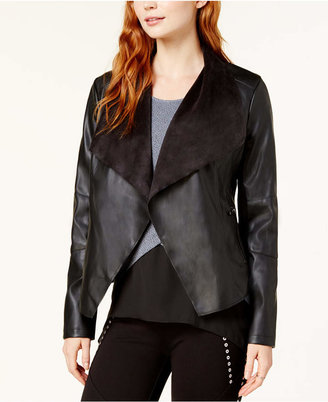 Bar III Flyaway Faux-Leather Jacket