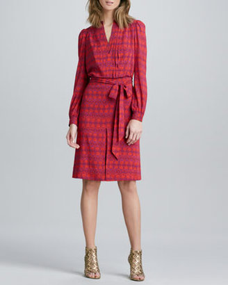 Tory Burch Judi Printed Tie-Waist Dress