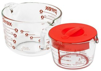 Pyrex grip-rite covered measuring cups