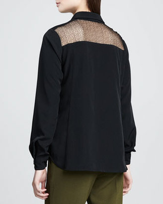 Nanette Lepore Saturn Cutout-Top Blouse