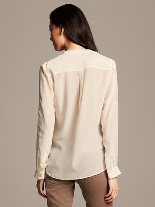 Banana Republic Silk Popover Blouse