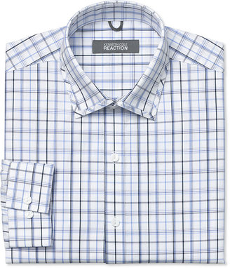 Kenneth Cole Reaction Dress Shirt, Blue and Black Box Check
