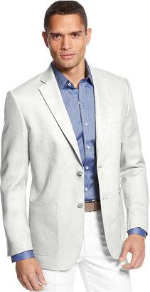Tasso Elba Island Solid Linen 2-Button Blazer $129 thestylecure.com