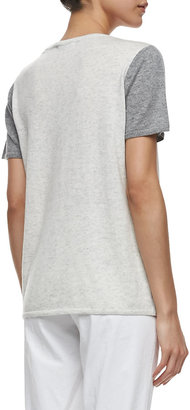 Vince Colorblock Short-Sleeve Cashmere Tee
