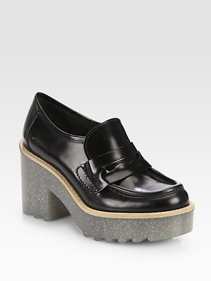 Acne Taurus Glitter Platform Loafer Pumps