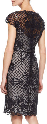 Escada Lace Embroidered-Overlay Dress
