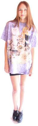 Black Sheep Purple Tie Dye Cat Tee