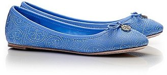Tory Burch Stitched Logo Chelsea Ballet Flat