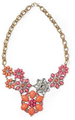 Vince Sabine Cabachon Floral Bib Necklace