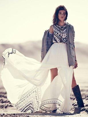 Mara Hoffman Beaded Silk Chiffon Gown